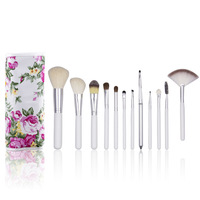 New! 20PCS Pro Makeup Brush Set Cosmetic Facial Makeup Brushes Kit  + Peony Blossom Case Bag Free shipping