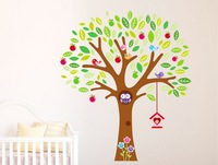 TREE wall stickers DIY Decoration removable Parlor  bgirls  kids Bedroom nursery Stairs Hotels Lounge decor NCJ7223