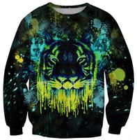 Black tiger women hoody 2014 Winter Warm Sexy Women Sweaters Lion Print 3D Casual Jogging Suits For Women Sweatshirt