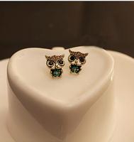 European and American fashion jewelry cute vintage owl earrings  DO earrings wholesale Korea