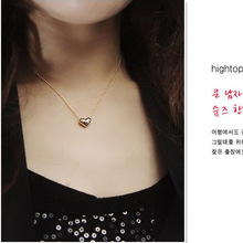 A new simple elegant beautiful gold plated heart women s jewelry pendant necklace