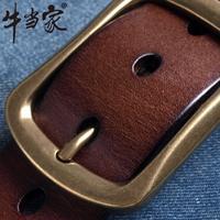 drop shipping Cattle strap male genuine leather casual waist belt buckle male pin buckle genuine leather belt male