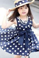 Good Quality ! 2014 Summer Kids Children Clothing Polka Dot Girl Chiffon Sundress Dress Casual Sleeveless princess dress 8018D.