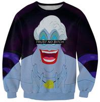 2014 Autumn Women Sweaters Lamp Of Aladdin Print Sweatshirt Casual Round Collar Women Hoodies