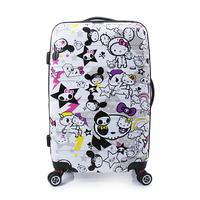 2014 Rushed Sport Bag for Women Women Travel Bags Hellokitty Suitcase Pull Rod Box Korea Female Lovely Aircraft Wheel Universal