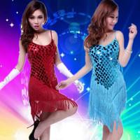 Sequins Tassel Latin Dance Dress Professional Latin Dress Samba Latin Salsa Dresses Costumes Clothes for Dancing Dress LD007