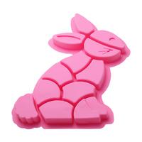 Creative stitching large rabbit style cake mold silicone ice cube mold fondant cake decorating tools free shipping