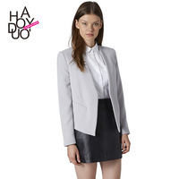 New 2014 V-Neck No Button Suit Jacket XS/S/M/L/XL/XXL Blazer Women White,Black,Light Gray Blazers