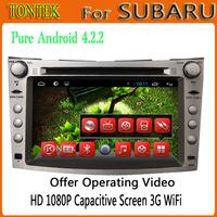 2 din 7 inch  android 4.2.2 Steering wheel controls Capacitive screen bluetooth radio ipod mp3/mp4 gps Car dvd for Subaru wagon