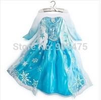 2015 new Frozen Elsa dress Girl Princess Dress Summer longsleeve frozen dress Anna and Elsa Costume baby & kids summer dresses