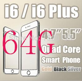 64g rom goophone i6 più i6 telefono cellulare quad core 2g ram mtk6582 smartphone gps wifi mtk6592 octa core mobile telefono nota 4