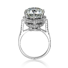 Gorgeous 5Ct Moissanite Ring Genuine 18K White Gold Ring Engagement 18K Jewelry for Women Wedding Bridal Anniversary Ring(China (Mainland))
