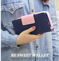 Korean version of wallet zips Korea Shinzi sweet temperament ladies card-long bi-fold wallets postage