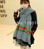 New Arrive Scarf Fashion Grid Patterm stripe plaid scarf Female model the cotton scarf long scarf Women Scraf pashmina