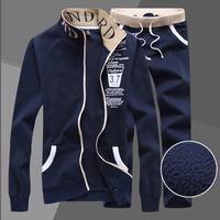 Free Ship Autumn Men Sport Suit Brand Slim Fit Hoodies Top+Full Pant Korean Casual Tracksuit Hoody Sportwear Men Sweatshirt Set