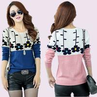 Autumn women sweater basic sweater shirt top loose plus size clothing long-sleeve fashion outerwear