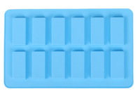 12 rectangular biscuits silicone mold fondant cake decorating tools chocolate biscuit jelly ice mold kitchen accessories