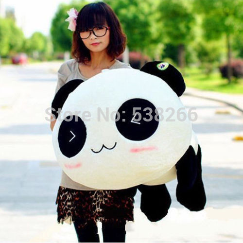 Baby's Christmas gift Soft Toys Stuffed Plush Doll Toy Animal Giant 70CM Cute Panda Pillow Bolster Gift New(China (Mainland))