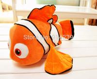 2014 New arrival Nemo Soft Toy 16'' Clownfish plush doll stuffed animal fish Nemo plush toys for kids free shipping HWPT021