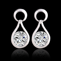 Promotions New Design Fashion Personality Plating 18K gold Pendants Crystal Drop earrings Wedding jewelry for women 2014 PT31
