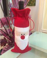 New Year Santa Claus Christmas Decorative Wine Bottle Sets