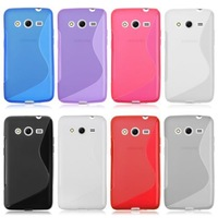 For Samsung Galaxy Grand Prime G530 G530H G5308W Case Cape TPU S line Scratch-Resistant Soft Gel Case Cover