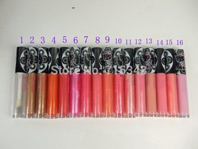 New Hot Sales Makeup Lipgloss Hello Kitty Lipgloss 4.8g Have 16 Colors Choose ( 60 Pcs/Lot)(China (Mainland))