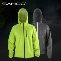 Sahoo Cycling Bicycle Bike Outdoor Jersey warm jersey for winter Windproof jersey waterproof jersey Green and Gray Color