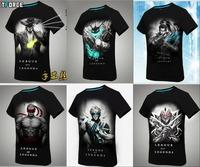 2015 new T-shirt League T shirt short-sleeved T-shirt men ash if the wind Card blind monk Izawa 3D printed short-sleeved