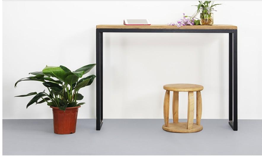 Moderne chinois bois de fer bureau bois bureau d for Table de bureau en bois