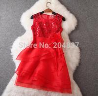 New arrival 2015 women's spring gauze organza formal dress evening dress party dress three color (dearesy fashion store)