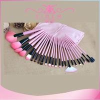 New Arrival top quality pink Color Make up Brushes 24 pcs Natural Hair Makeup Brush set Facial Cosmetics brushes and bag