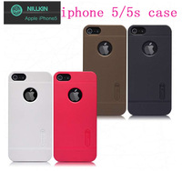 NILLKIN Super Frosted Shield case for iPhone 5S/5 with screen protector and retailed package by free shipping