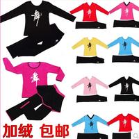 Children's Dance Costumes In Autumn And Winter Plus Velvet Padded Exercise Clothing Girls Long Sleeve Latin Dance Dress FC221