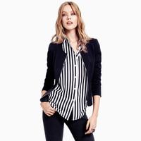 Long-Sleeved Black  Jacket Spring And Autumn Women coat  XS/S/M/L/XL/XXL