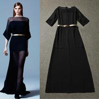New Desigual Women Sexy Maxi Long Dresses Elegant Black Evening Party Dresses Femininos Vestidos Branco Free Shipping W5211