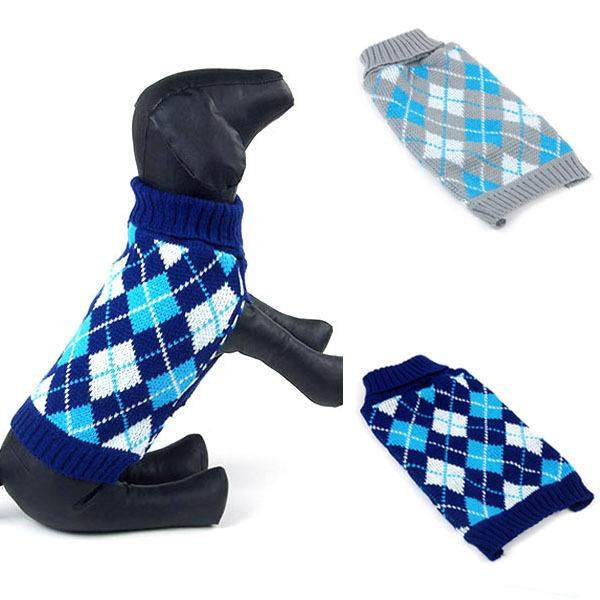 Small Medium Dog Sweater Pet Puppy Knit Jumper Jacket Clothes Coat Apparel Free&Dropshipping(China (Mainland))