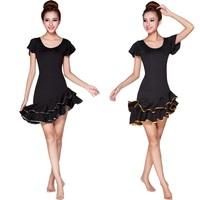 2014 New Latin Dance Dress Women's Latin Salsa Ballroom Dance Dress Plus Size Sexy Rayon Silk for Female LD009