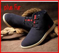 Hot sale 2014 new casual warm men boots martin winter fur men snow boots vintage flats men shoes man brand zapatos hombre
