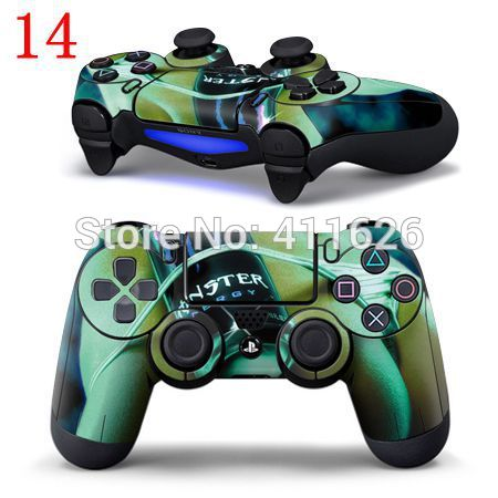 Sexy green modern girl logo for PS4 Controller Sticker PS4 Controller(China (Mainland))