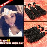 Unprocessed Malaysian Virgin Hair Deep Wave 6A Human Hair Weave Weft Extension Malaysian Deep Wave Hair Bundles Fast Shipping