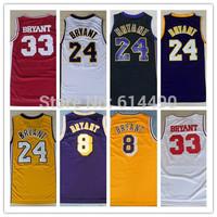 Hot selling Los Angeles Kobe Bryant Retro Jersey Wholesale Cheap Throwback Basketball Shirt Sportswear Men Jerseys