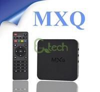 (10pcs/lot) DHL Free Ship MXQ TV BOX Amlogic S805 Quad Core Android 4.4 Kitkat 4K 1GB RAM 8GB ROM XBMC WIFI Airplay Miracast 3D