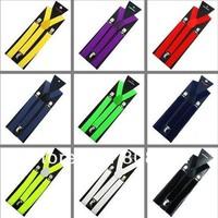 Free shipping 2014 new Men suspenders for women Unisex Clip-on Braces Elastic Slim Suspender 1inch wide Wholesale & Retail