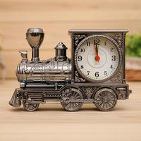 LS4G Men Retro Train Office Desk Alarm Clock Birthday Xmas creative Novelty Gift