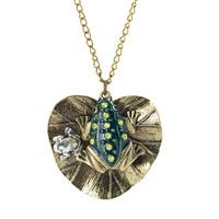 Vintage bronze vase bottle pendant chain necklace retro jewelry necklace NL-2298