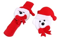 2014 New arrival Christmas Snowman Pat Slap Bracelet Pat Circle Hand Ring Xmas Gift Decos for first service
