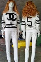 2014 women clothing set winter and autumn sport suit hoodies sweatshirts long sleeve  girl's tracksuit Fleece cc