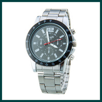 2014 fashion watch Mens Black Dial Analog Digital Steel Sport Watch Stainless steel watch