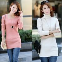 2014 new Korean women T-shirt sleeve head long bottoming sweaters sweaters